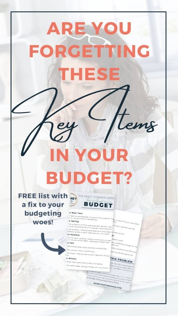 expenses missing from your budget