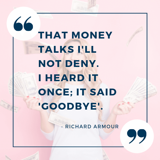 Richard Armour quote on money