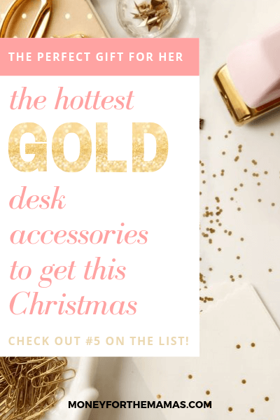 perfect gold desk accessories for her